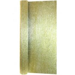 Гофра бумага в рулоне 50*2,5 (металл 180гр) золото