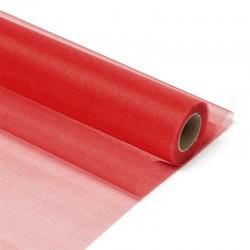 Органза-снег в рулоне 70см (10м) красная