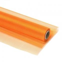 Органза-снег в рулоне 70см (10м) оранжевая