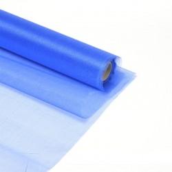 Органза-снег в рулоне 70см (10м) синяя