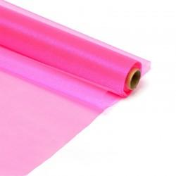 Органза-снег в рулоне 70см (10м) розовая