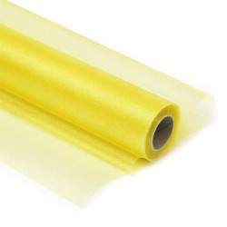 Органза-снег в рулоне 70см (10м) желтая