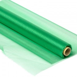 Органза-снег в рулоне 70см (10м) зеленая