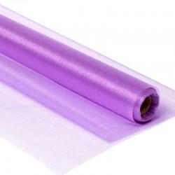 Органза-снег в рулоне 70см (10м) фиолетовая