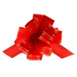 """Подарочный бант """"32"""" с золотой полосой (красный)"""