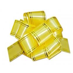 """Подарочный бант """"32"""" с золотой полосой (желтый)"""