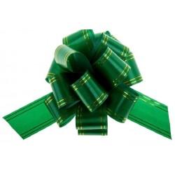 """Подарочный бант """"32"""" с золотой полосой (зеленый)"""