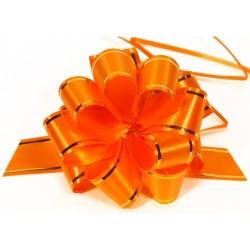 """Подарочный бант """"32"""" с золотой полосой (оранжевый)"""