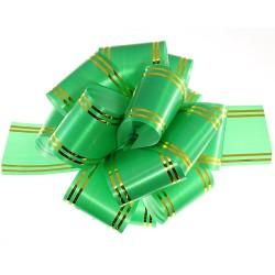 """Подарочный бант """"32"""" с золотой полосой (светло-зеленый)"""