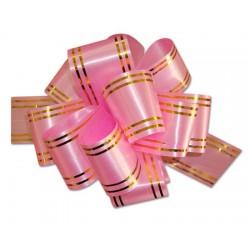 """Подарочный бант """"32"""" с золотой полосой (розовый)"""