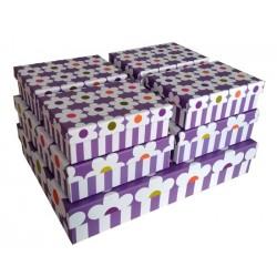 """Набор коробок 7 в 1 """" Крупные цветочки"""" (сиреневый)"""