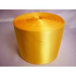 Лента 10 см атлас (1м) желтая
