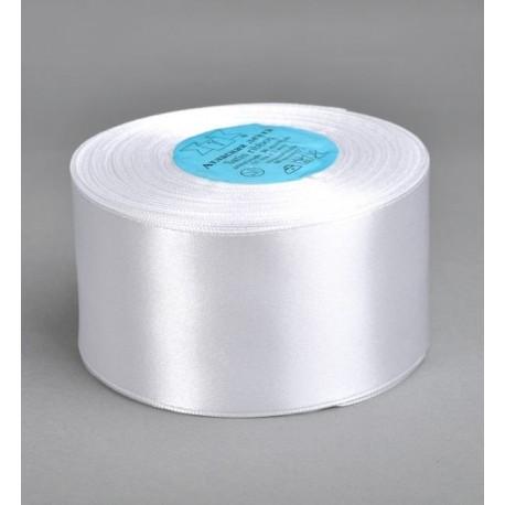 Лента 5 см атлас  (1м) белая