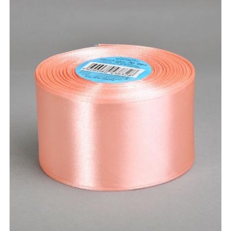 Лента 5 см атлас (1м) персиковая