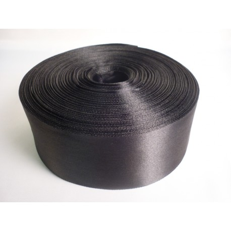 Лента 5 см атлас (1м) черная