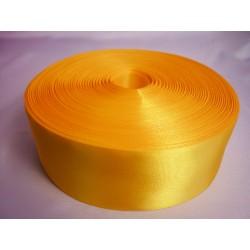 Лента 5 см атлас (1м) желтая