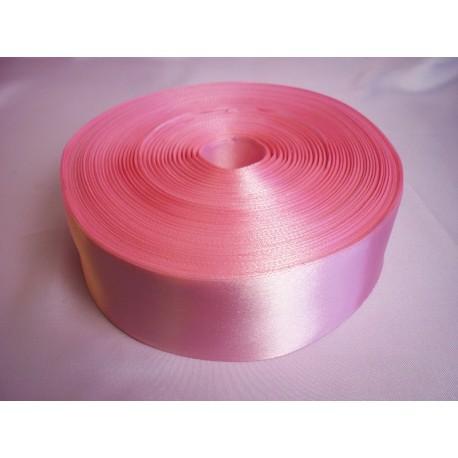 Лента 5 см атлас (1м) розовая