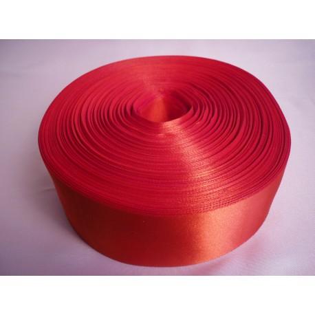 Лента 5 см атлас (1м) красная