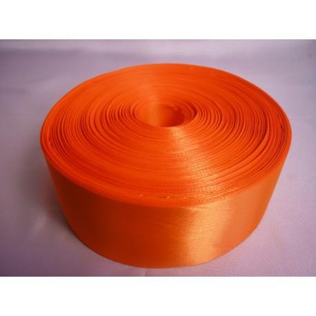 Лента 5 см атлас (1м) оранжевая