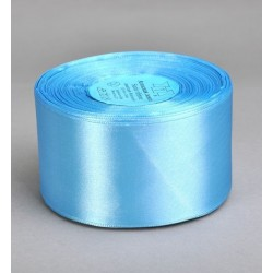 Лента 5 см атлас (1м) голубая