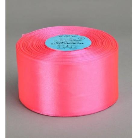 Лента 5 см атлас (1м) ярко-розовый