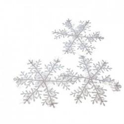 Снежинка 10см (набор 3шт)
