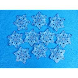 Снежинки на скотче (набор 10шт.) d-10см бумажные