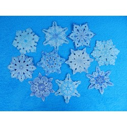 Снежинки на скотче (набор 10шт.) d-15см бумажные