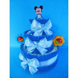 Торт из памперсов для мальчика (ПМ-0027450)