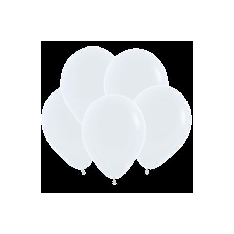 Шар 5/13см Пастель WHITE (10шт.)