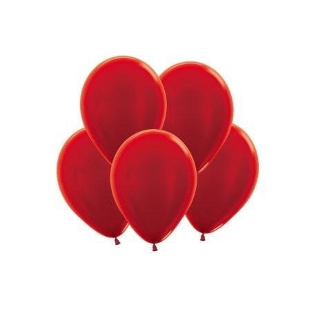 Шар 5/13см Металлик CHERRY RED  (10шт)