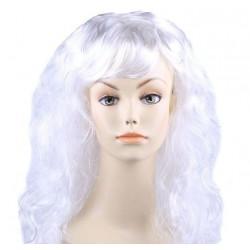 """Парик длинный """"Белый"""" волнистый волос"""