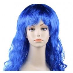 """Парик длинный """"Синий"""" волнистый волос"""