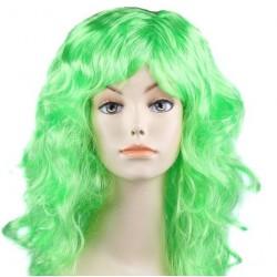 """Парик длинный """"Зелёный"""" волнистый волос"""