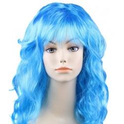 """Парик длинный """"Голубой"""" волнистый волос"""