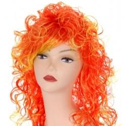"""Парик длинный """"Оранжево-жёлтое мелирование"""" кудрявый волос"""