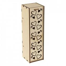 """Коробка для вина """"Сердечки"""" 38*11*11см"""