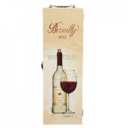 """Коробка для вина люск """"Дегустация вин"""" 37х12х12"""