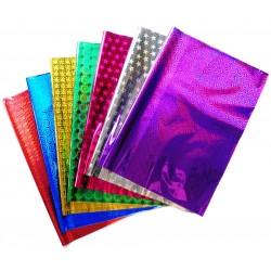 Упаковочная бумага голография (5 листов) цвет: микс
