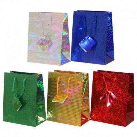 Подарочный пакет голография 12*15*7