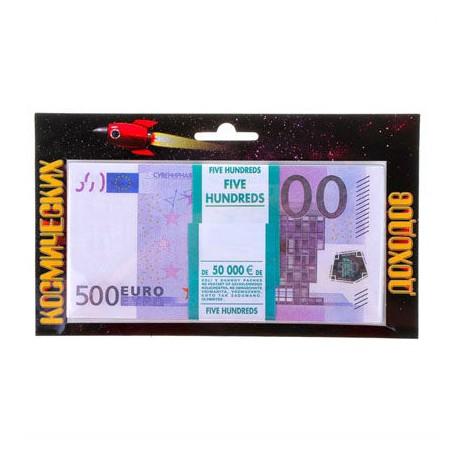 """Пачка денег """"500 евро"""" подарочная упаковка"""