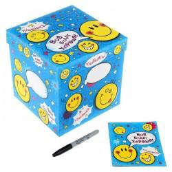 Подарочный складной набор. Коробка и открытка «Смайл», 20 × 20 × 20 см