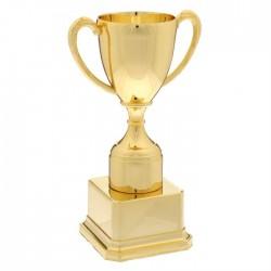 Кубок классика на золотой подставке под нанесение (18см)